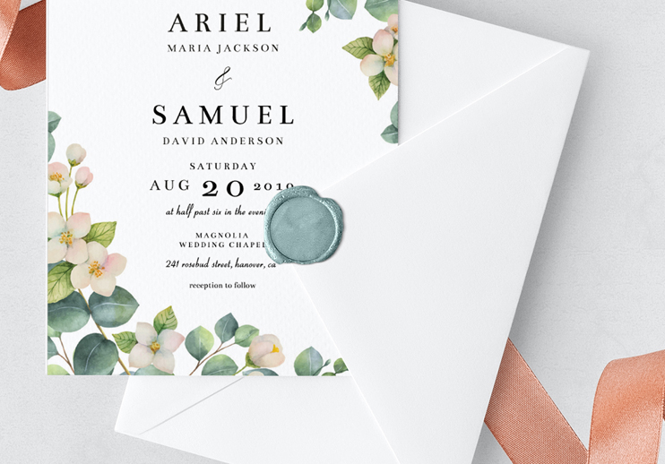 Blackbird-Studios-Luxury-Affordable-Wedding-Stationery-Websites-Dublin-Clare-Ireland-Wording-Wax-Seal-Rose-Gold-Minimal-Floral