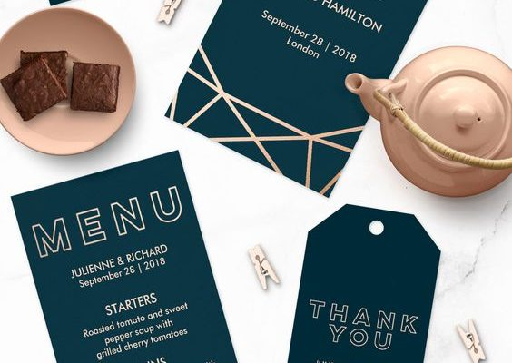 Blackbird-Studios-Luxury-Affordable-Wedding-Stationery-Websites-Dublin-Clare-Ireland-Wording-Geometric-Foil-Gold