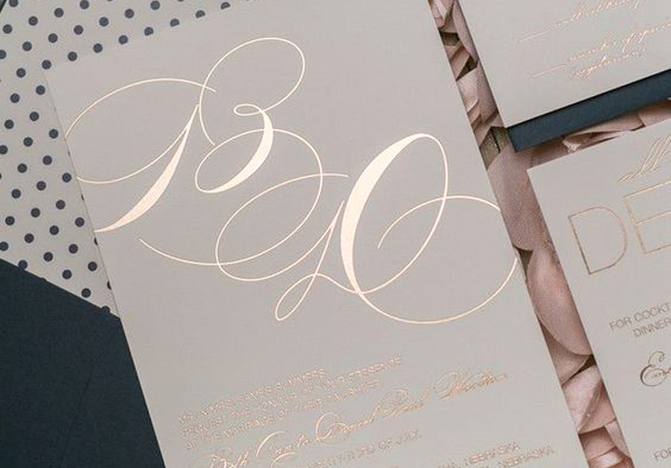 Foiled Wedding Stationery Blackbird Studios Luxury Affordable Wedding Stationary Dublin Clare Ireland