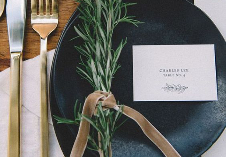 Table Accessories Blackbird Studios Luxury Affordable Wedding Stationary Dublin Clare Ireland